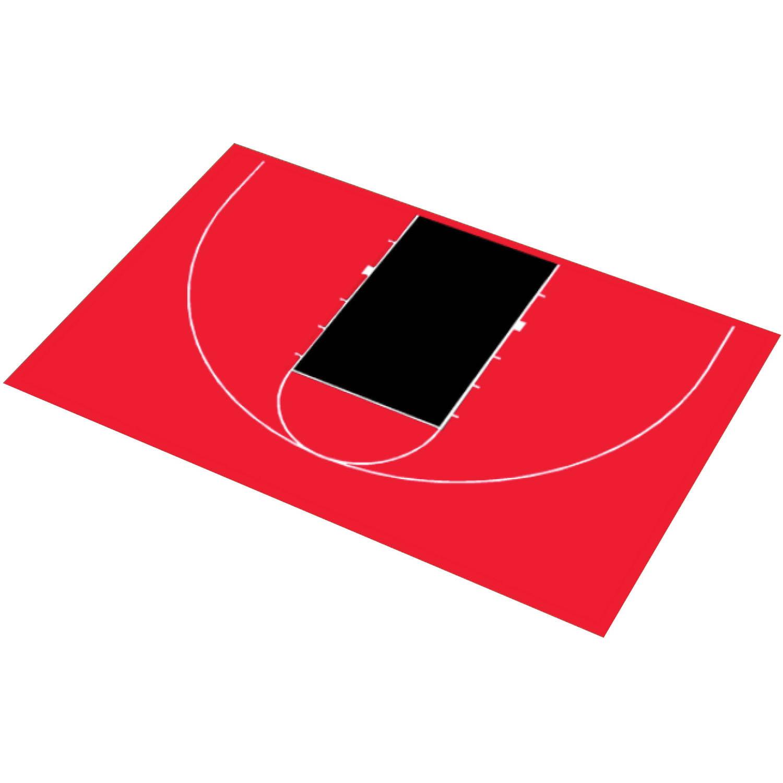 "DuraPlay Half Court Basketball Kit, 45'11"" x 29'11"""
