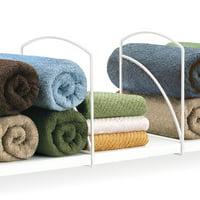Lynk Shelf Dividers - Closet Shelf Organizer (Set of 2) - Chrome