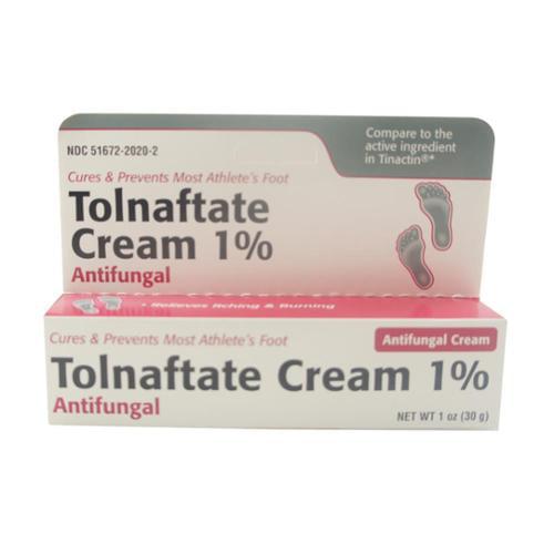 Taro Tolnaftate 1% Antifungal Cream 1 oz (Pack of 6)
