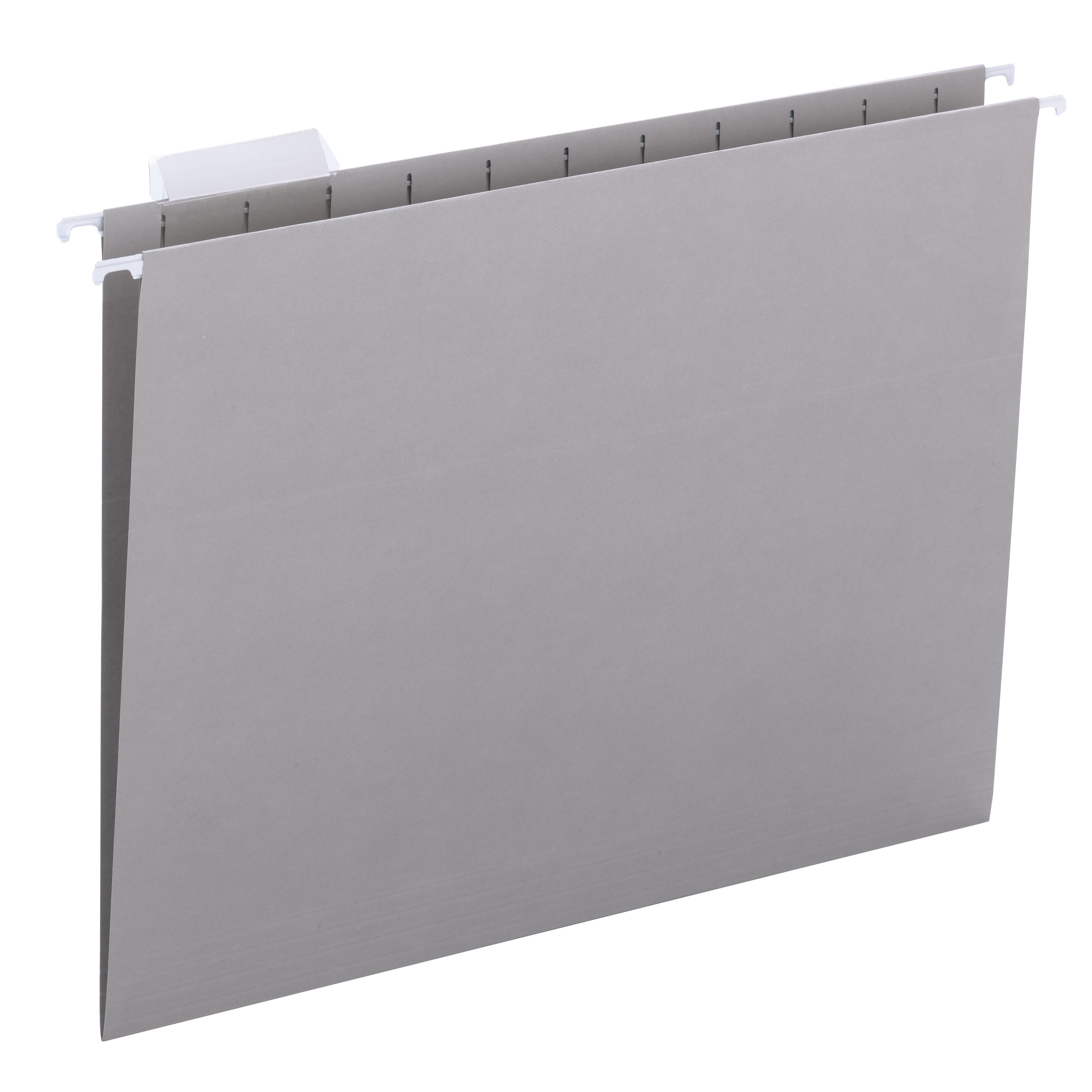 Smead Hanging File Folder with Tab, 1/5-Cut Adjustable Tab, Letter Size, Gray, 25 Count