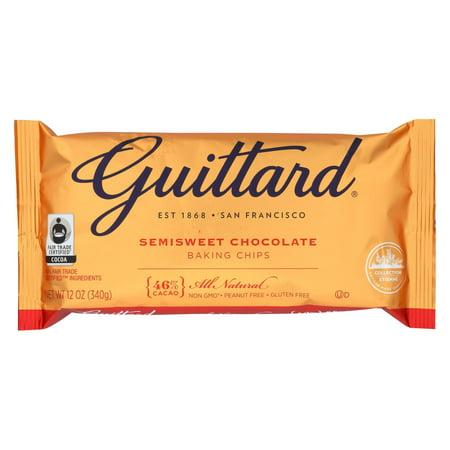 Guittard, Semi Sweet Chocolate Baking Chips, 12oz Bag - Guittard Semi Sweet