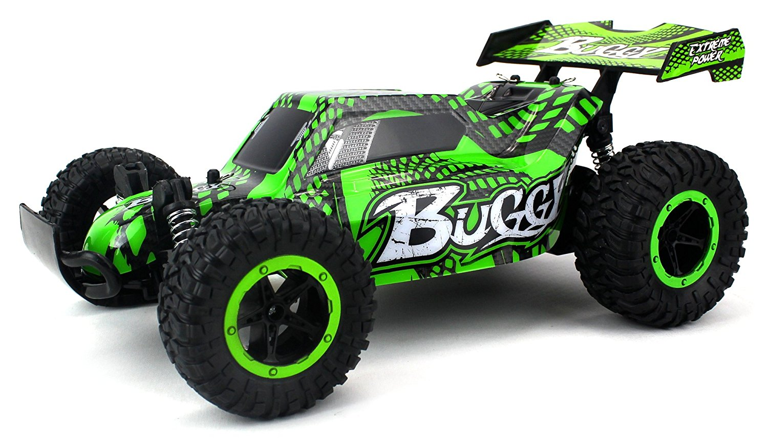 Cheetah King Remote Control RC Buggy Car 2 4 GHz PRO System 1:16 Scale Size  RTR w/ Working Suspension, Spring Shock Absorbers (Colors May Vary)