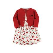 Hudson Baby Girl Dress and Cardigan Set