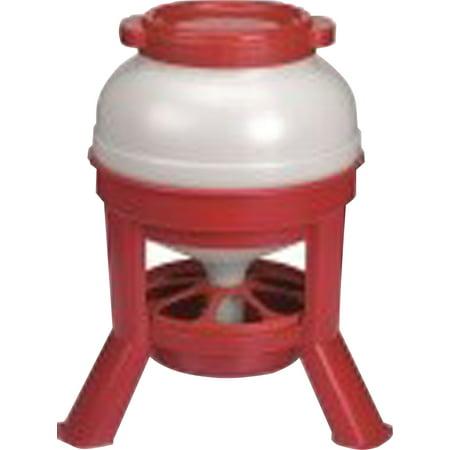 Miller Mfg Co Inc P-Feeder Plastic Dome- Red 35 Lb