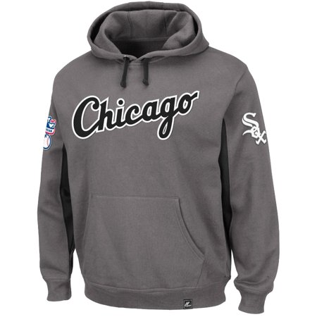 "Chicago White Sox Majestic MLB ""Major Play"" Hooded Sweatshirt Charcoal by"