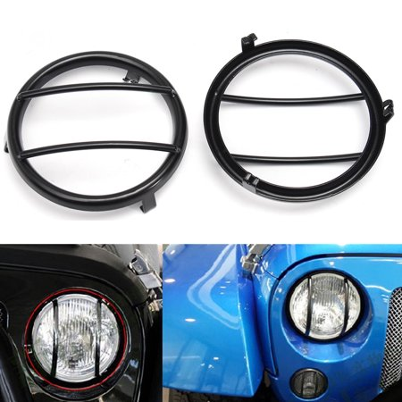 6Pcs Stainless Steel Black Headlight Guards + Turn jeepaccessorie Signal/Tail Light Covers For JK - image 7 of 9