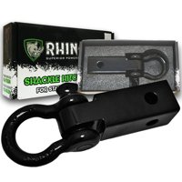 RHINO USA Shackle Hitch Receiver, Best Towing Accessories for Trucks & Jeeps, Connect Your Rhino Tow Strap for Vehicle Recovery to This 31,418 Lbs Capacity Reciever, Mounts to 2 Receivers!