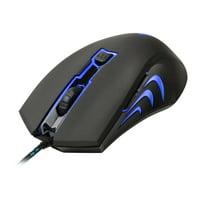 AZiO GM2400 LED Backlit USB Optical Gaming Mouse, Black