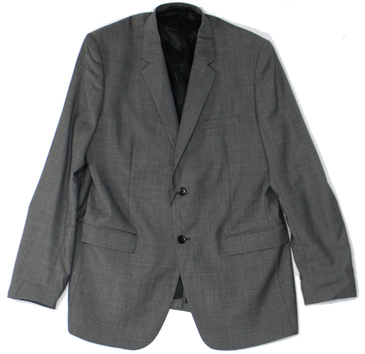 Theory NEW Gray Mens Size 44 Textured Two Button Wool Spo...