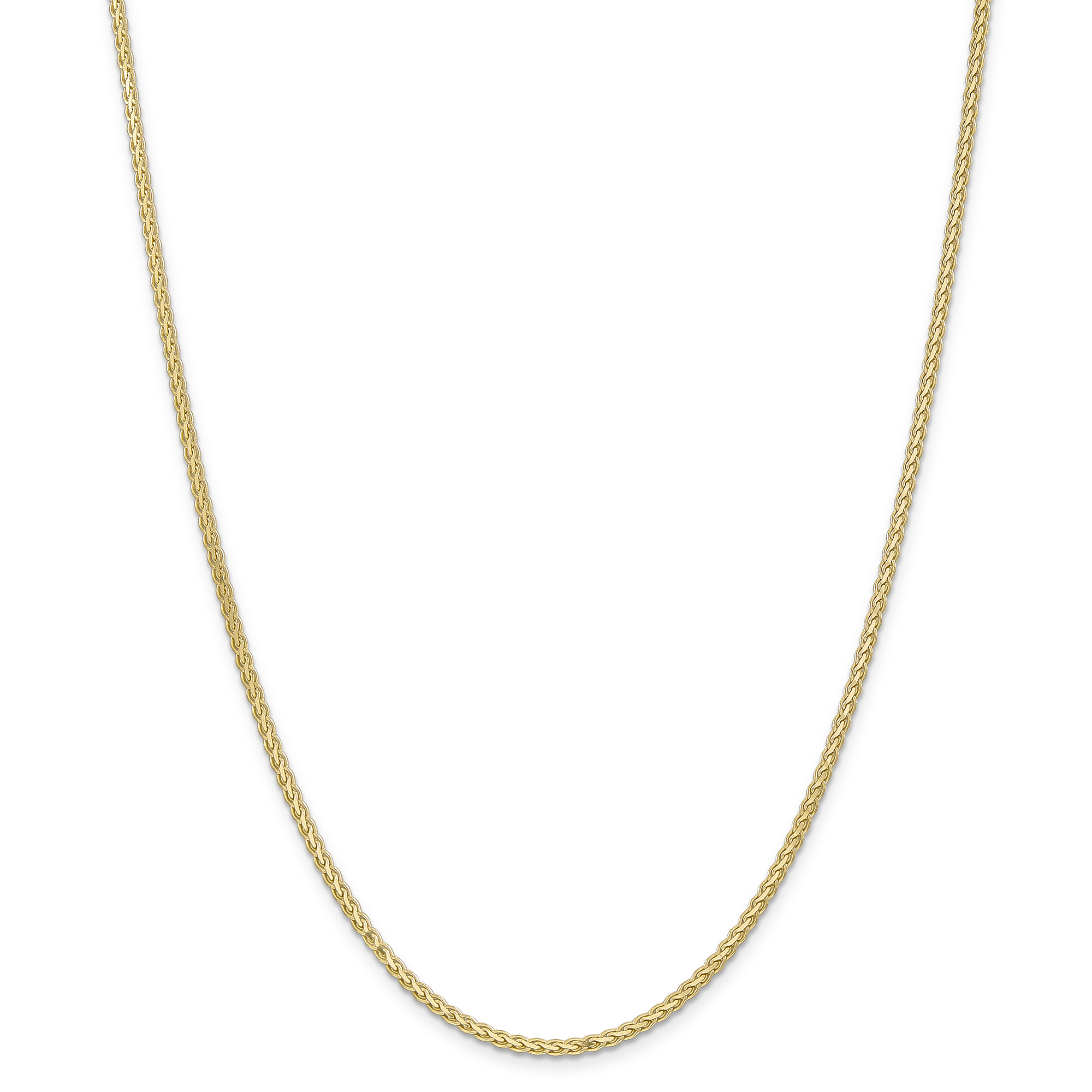 Roy Rose Jewelry 14K Yellow Gold 2.5mm Flat Wheat Chain N...