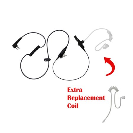 BOMMEOW BCT12RT-M1A Earpiece with Extra Clear Tube for Motorola Walmart RDM2070D