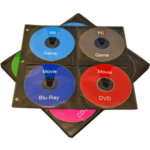 TekNmotion 20 CD Binder Pages, 8 CDs per page - 160 Disc Capacity