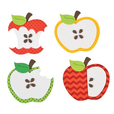Fun Express - Fall Apple Magnet CK-12 for Fall - Craft Kits - Stationary Craft Kits - Magnet - Fall - 12 Pieces - Crafts For Fall
