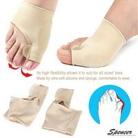 Spencer 1 Pair Gel Pad Bunion Protector Sleeves with Gel Toe Separators Spacers Hallux Valgus Bunion Pain Relief