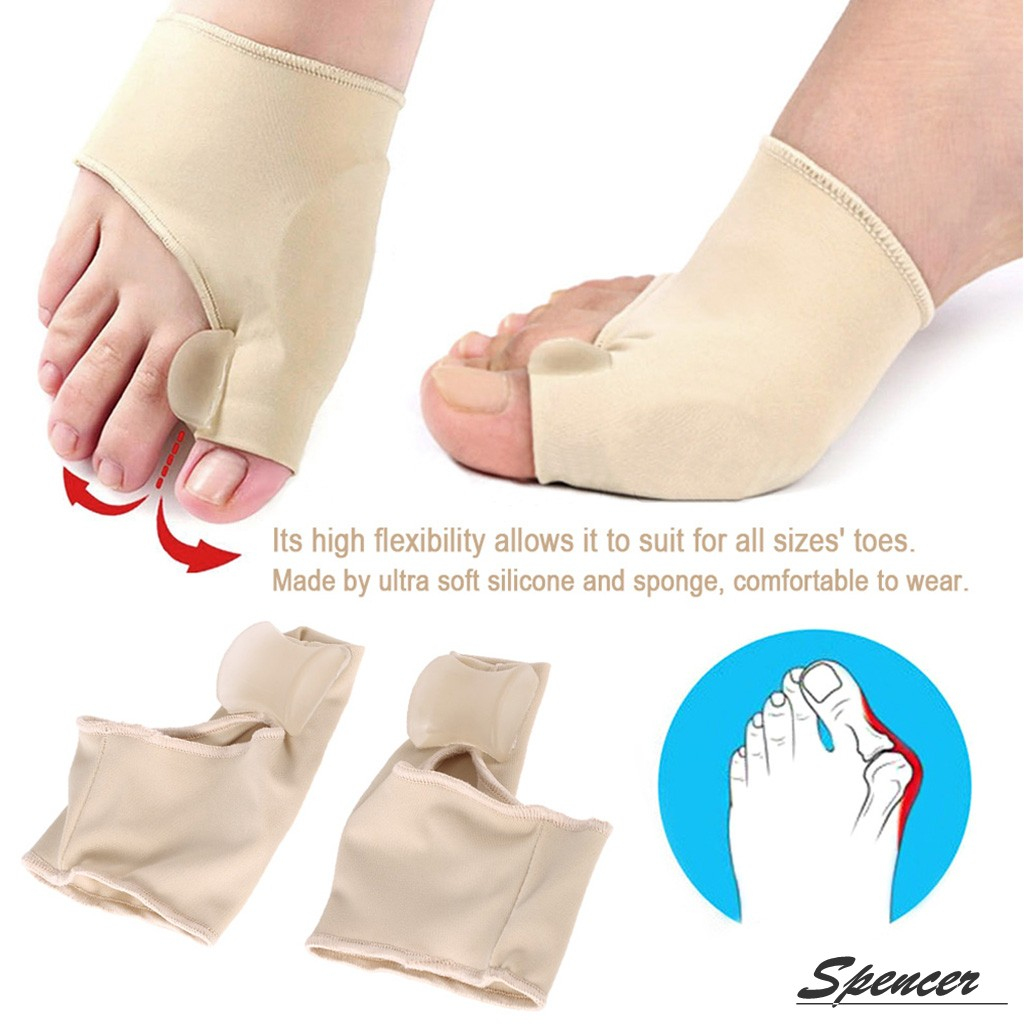 Spencer 1 Pair Gel Pad Bunion Protector Sleeves with Gel Toe Separators Spacers Hallux Valgus Bunion Pain Relief