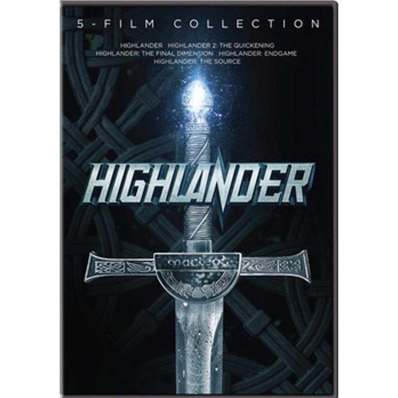 Highlander 5 Film Collection Dvd