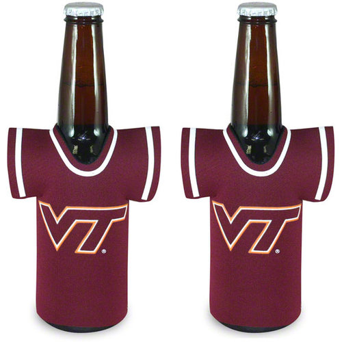 NCAA Virginia Tech Hokies Bottle Jersey Koozie - Maroon