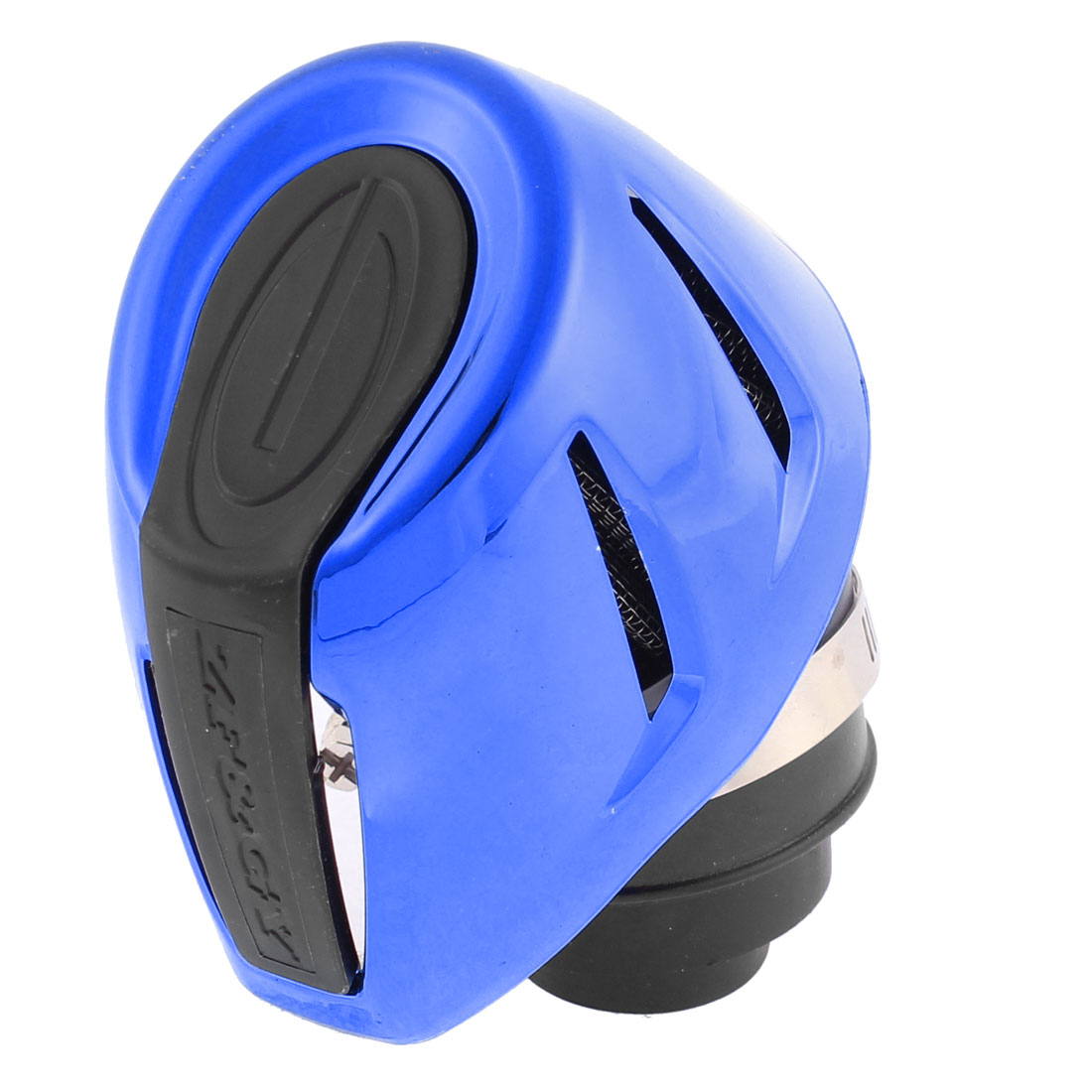 "Unique Bargains Universal 48mm 2"" Thread Diameter Motorcycle Air Filter Cleaner Blue Black"
