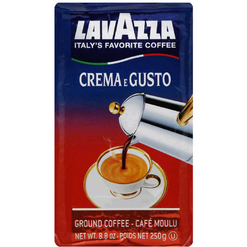 Lavazza Crema e Gusto Ground Coffee, 8.8 oz, (Pack of 10)