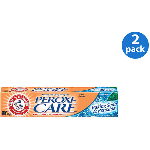 Arm & Hammer Peroxicare Baking Soda & Peroxide Fresh Mint Toothpaste 6 oz (Pack of 2)