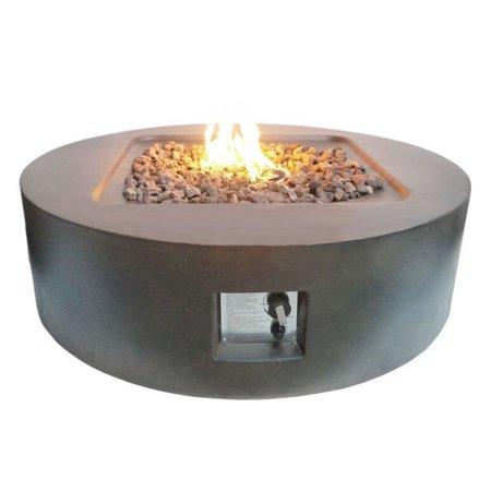 Teva Patio Flint Round Gas Fire Pit With Optional Tank Hideaway