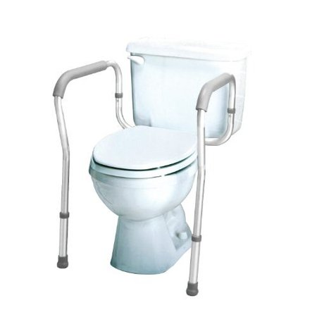 Carex Toilet Safety Rails - Toilet Frame with Adjustable Height