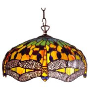 Dragonfly 2-Light Round Ceiling Pendant