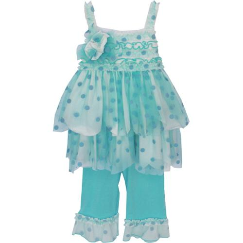 Isobella & Chloe Baby Girls Light Blue Sunrise Sunset Two Piece Pant Set 3M-24M
