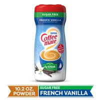 COFFEE MATE Sugar Free French Vanilla Powder Coffee Creamer 10.2 Oz. Canister | Non-dairy, Lactose Free, Gluten Free Creamer (3 Pack)