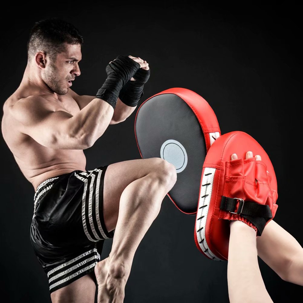 Focus Mitts PU Leather Boxing Pads Target Mitt Glove for Focus Training of Karate Punch Mitts