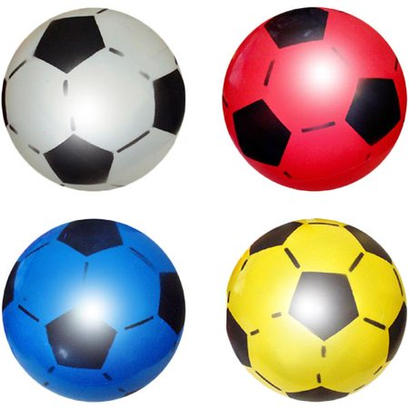 1 x Plastic Inflatable Football 22.5cm Uninflated Outdoor Indoor Beach - Personalized Plastic Footballs
