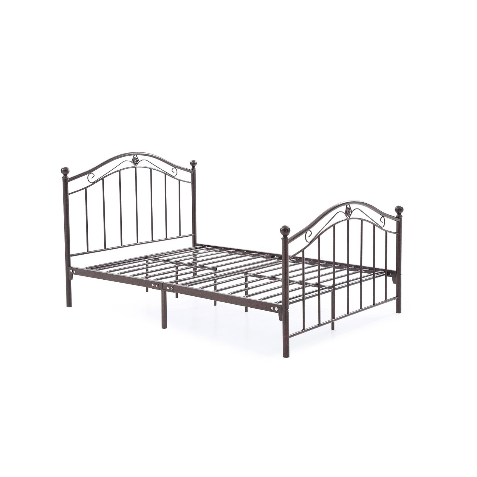 Hodedah Imports Metal Scroll Poster Bed by Hodedah