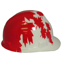 MSA V-Gard Patriotic American Pride USA hard hats -w/ Ratchet Suspension