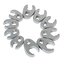 10PC METRIC FLARE CROWFOOT WRENCH SET 10MM-19MM