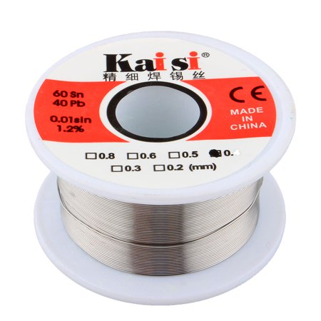 60/40 Solder Tin Lead Roll Wire with Rosin Core for for Electrical Soldering 50g (0.4mm) Tin Lead Solder