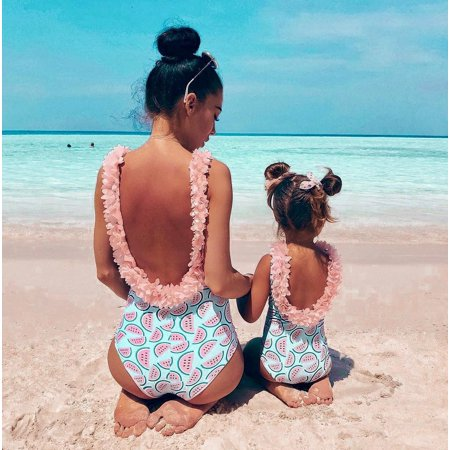 Baby Girls Toddler Infant Floral Watermelon Swimsuit Swimwear Swimming Bikini 6-12Months ()