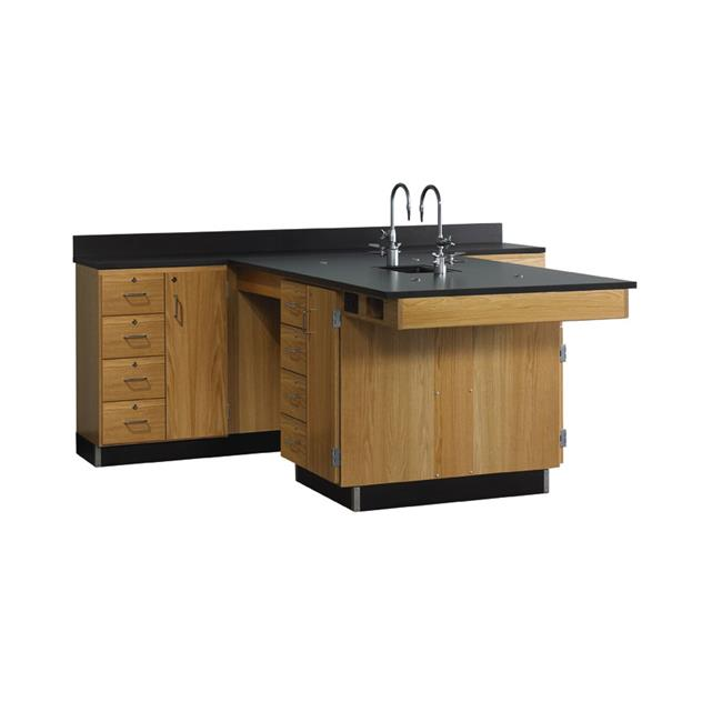 Diversified Woodcrafts 2834K Perimeter Workstation with Door and 4 Drawers