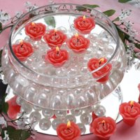 Efavormart Set of 12 Mini Floating Rose Candle Ideal for Aromatherapy Weddings Party Favors Home Decoration Supplies