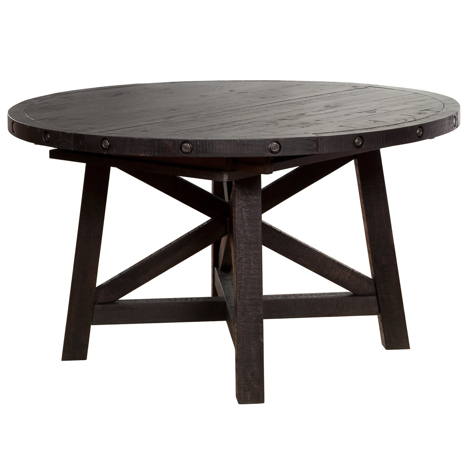 Modus Yosemite Solid Wood Round Extension Table Cafe Walmartcom