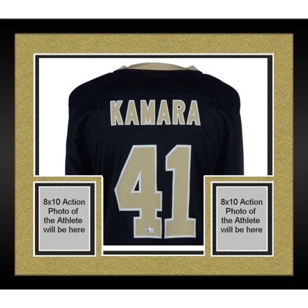 buy online f9138 38540 Framed Alvin Kamara New Orleans Saints Autographed Black Game Jersey -  Fanatics Authentic Certified