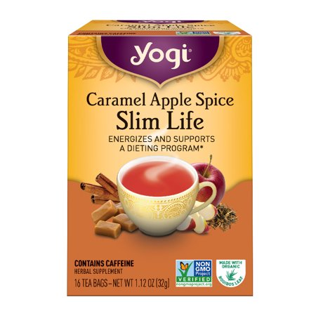 (6 Boxes) Yogi Tea, Caramel Apple Spice Slim Life Tea, Tea Bags, 16 Ct, 1.12