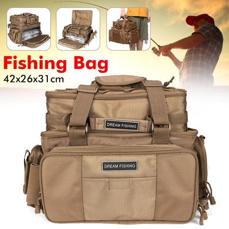 1200D Oxford Fabric Large Capacity Fishing Tackle Bags Waterproof Storage Bags with 2 Lure Boxes thumbnail