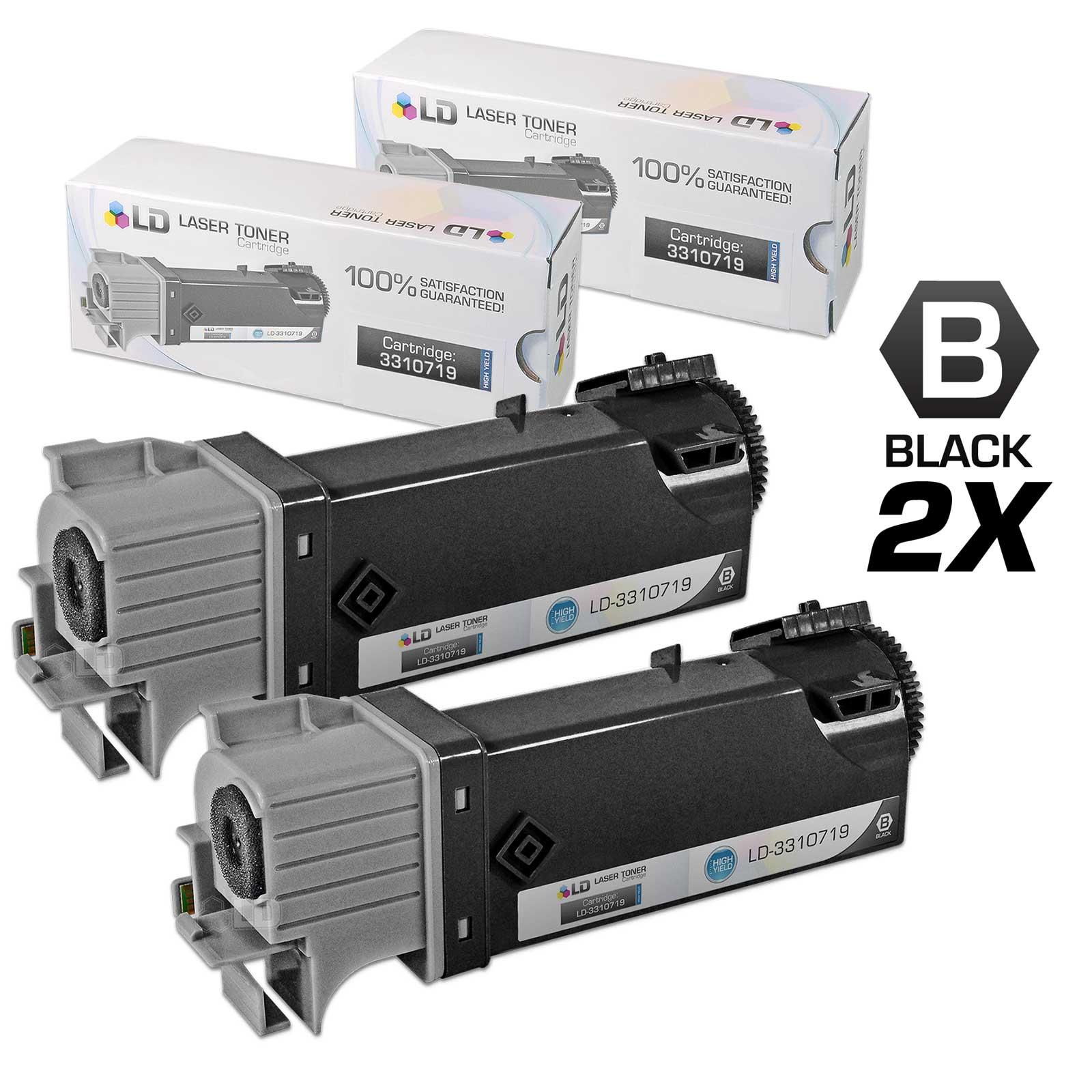 LD Compatible Dell 2150 / 2155 High Yield Toner Cartridges: 331-0719 BLK / 331-0716 C / 331-0717 M / 331-0718 Y