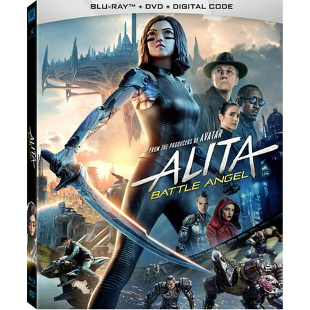 Alita: Battle Angel (Blu-ray + DVD + Digital (Copy Users From One Domain To Another)
