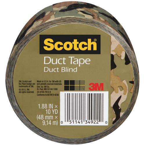"Scotch Printed Duct Tape 1.88""X10 Yards-Camo"