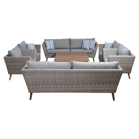 Amazonia Bali Wicker Patio Conversation Set