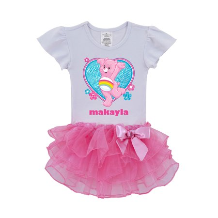 Personalized Care Bears Cheer Bear Dance Toddler Tutu Shirt