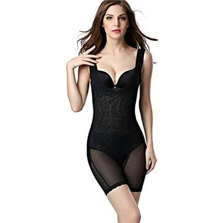(Shape Mi Seamless Open Bust Body Shapewear (2X Large, Black))