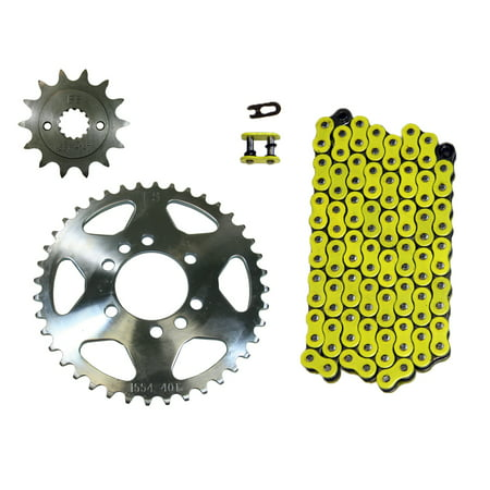 Yellow 520x98 Drive Chain 14/41 Sprockets 2003-2008 Suzuki LT-Z400 Quadsport 400