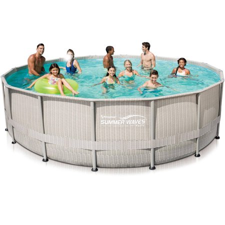 Summer waves elite 16 39 x 48 round premium metal frame for Summer waves above ground pool review